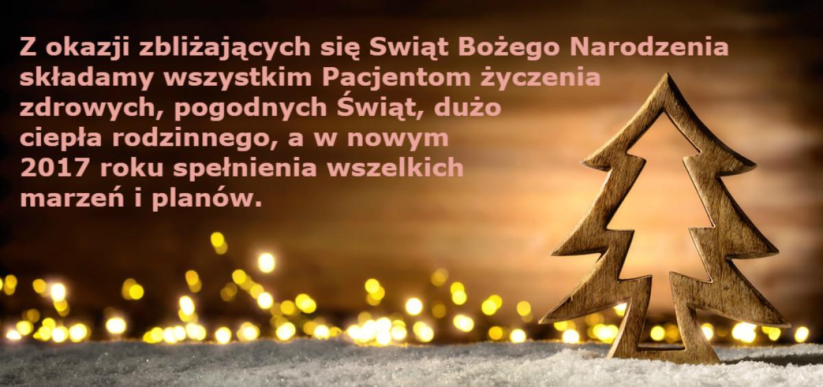 Święta Bożego Narodzenia i Nowy Rok 2017